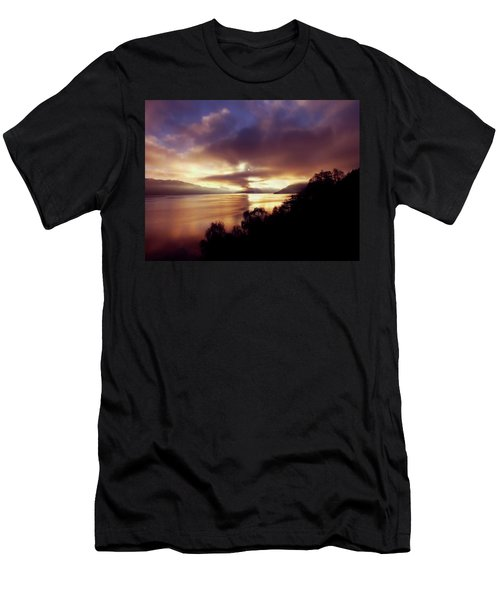 Loch Ness Winter Sunset Men's T-Shirt (Athletic Fit)