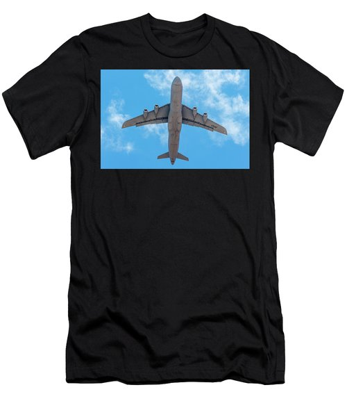 Men's T-Shirt (Athletic Fit) featuring the photograph Lockheed Martin C5 Galaxy Overhead by SR Green