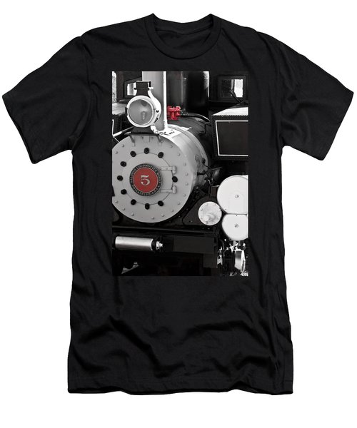 Locomotive Number Five Men's T-Shirt (Slim Fit) by Colleen Coccia