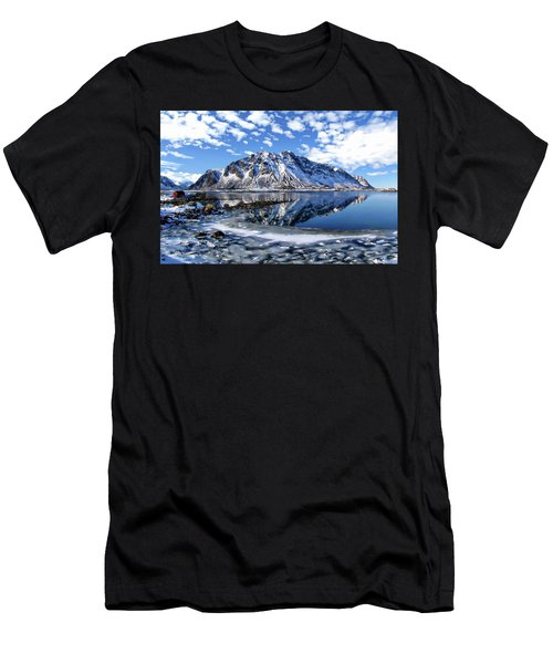 Lofoten Winter Scene Men's T-Shirt (Athletic Fit)