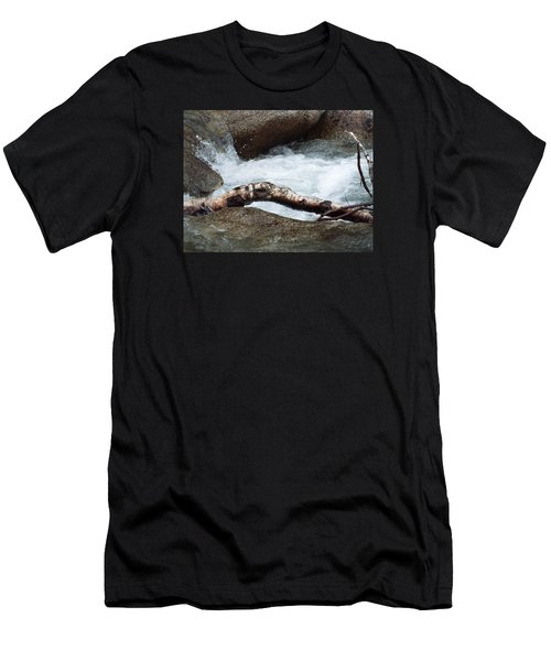 Log At White Water Men's T-Shirt (Athletic Fit)
