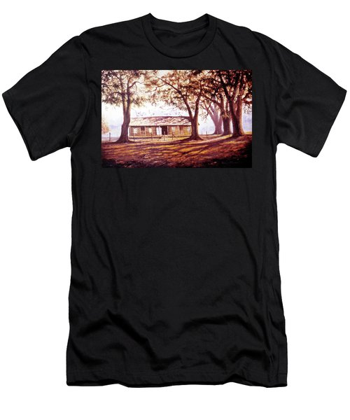 Log House On 421 Men's T-Shirt (Athletic Fit)