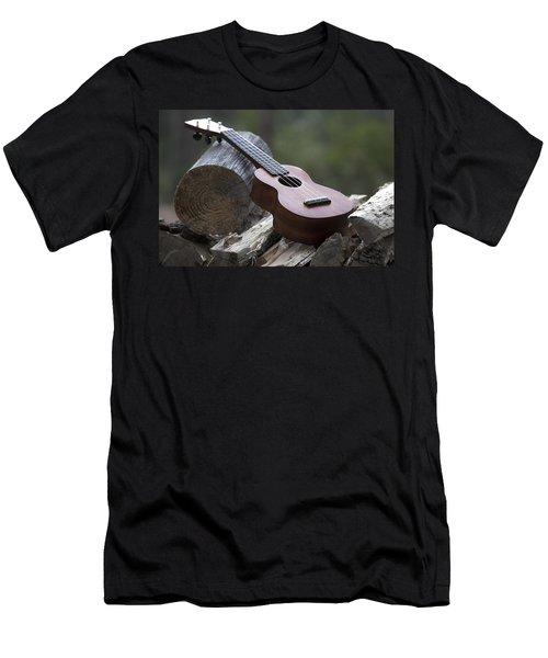 Logpile Ukulele Men's T-Shirt (Athletic Fit)