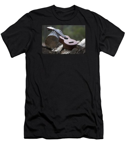 Logpile Ukulele Men's T-Shirt (Athletic Fit)