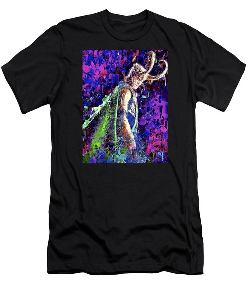 Men's T-Shirt (Athletic Fit) featuring the mixed media Loki Ready For War by Al Matra
