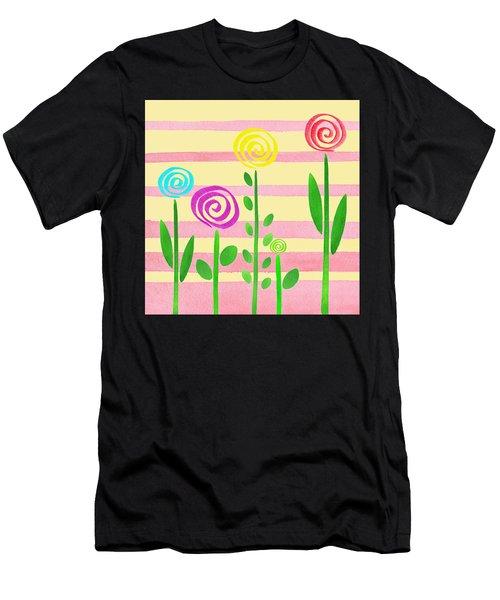 Lollipop Garden Men's T-Shirt (Athletic Fit)