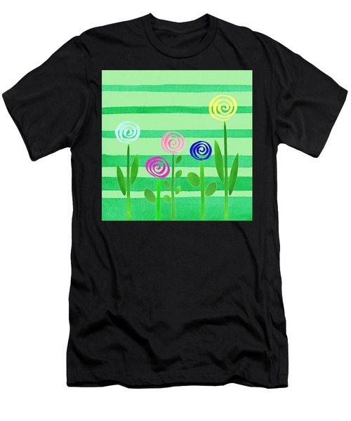 Lollipop Summer Garden Men's T-Shirt (Athletic Fit)