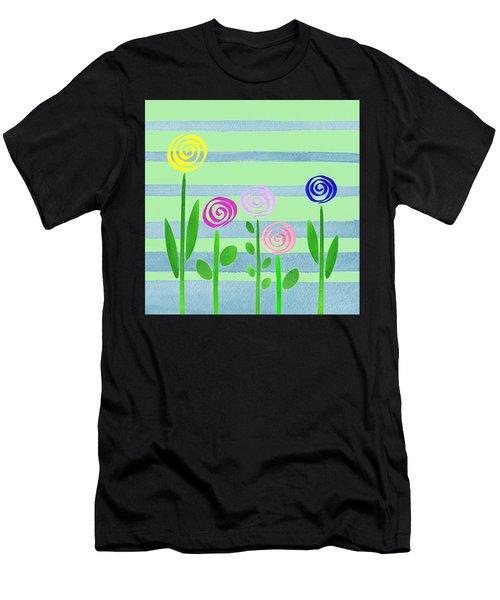 Lollipops In The Garden Men's T-Shirt (Athletic Fit)