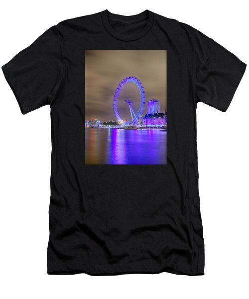 London Cityscape At Night 5x7 Men's T-Shirt (Athletic Fit)
