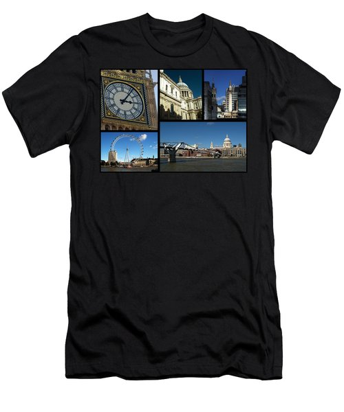 London Collage Men's T-Shirt (Athletic Fit)