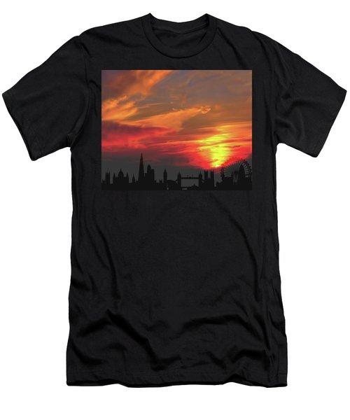 Sunset London Men's T-Shirt (Athletic Fit)