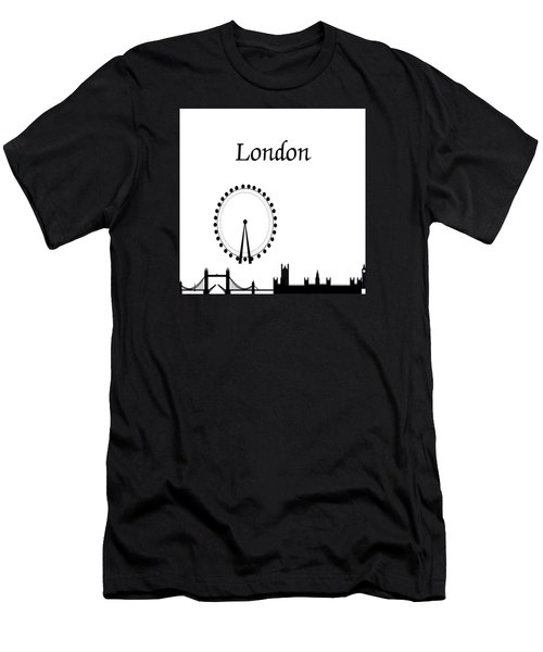 London Skyline Outline Men's T-Shirt (Athletic Fit)