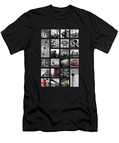 London Squares Men's T-Shirt (Slim Fit) by Mark Rogan