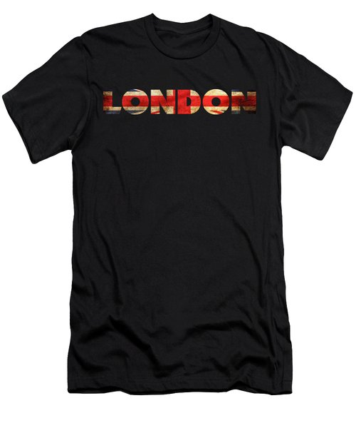 London Vintage British Flag Tee Men's T-Shirt (Slim Fit) by Edward Fielding