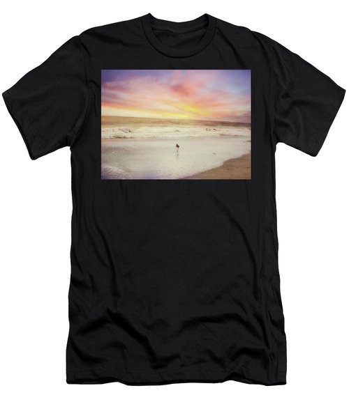 Lone Bird At Sunset Men's T-Shirt (Athletic Fit)