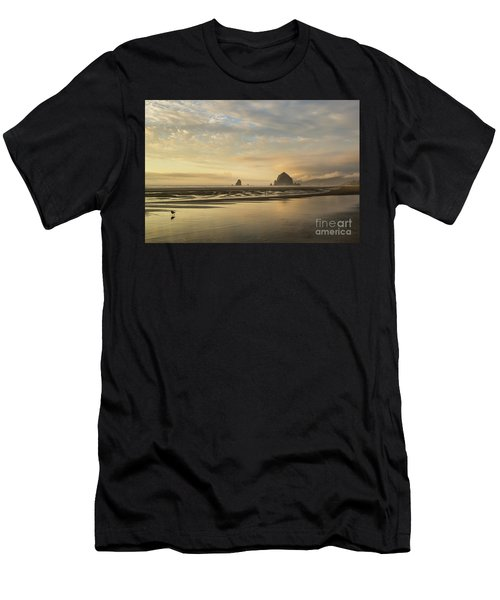 Sunset At Haystack Rock Men's T-Shirt (Athletic Fit)
