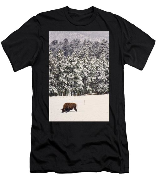 Lone Bison Men's T-Shirt (Athletic Fit)