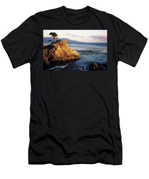Lone Cypress Tree Men's T-Shirt (Slim Fit) by Michael Howell - Printscapes