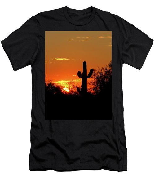 Lone Saguaro Sunrise Men's T-Shirt (Athletic Fit)