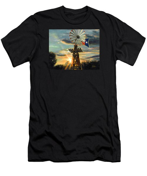 Men's T-Shirt (Slim Fit) featuring the painting Lone Star Sky by Doug Kreuger