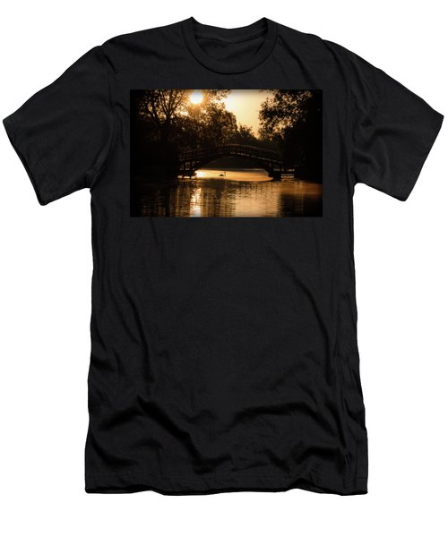 Lone Swan Up For Dawn Men's T-Shirt (Athletic Fit)