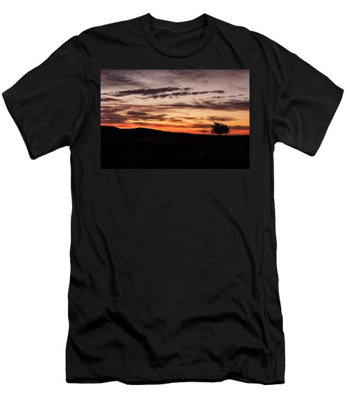 Lone Tree At Sunrise Men's T-Shirt (Athletic Fit)