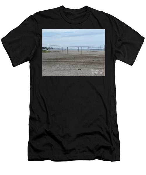 Lonely Beach Volleyball Men's T-Shirt (Athletic Fit)