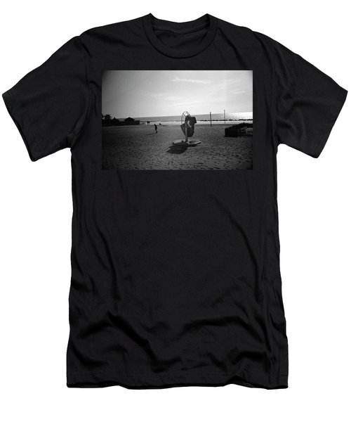 Lonely Man In Ostia Beach Men's T-Shirt (Athletic Fit)
