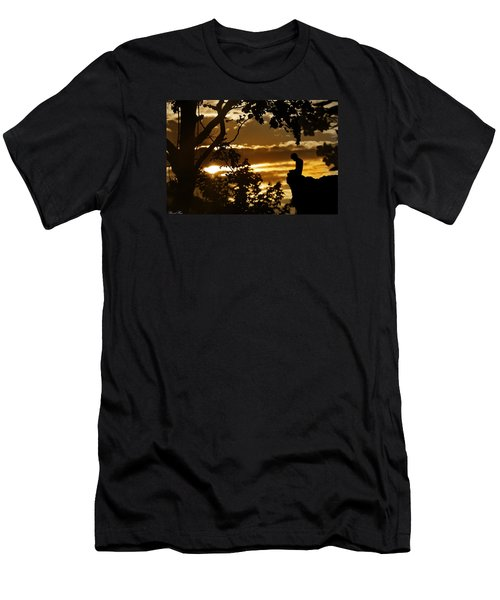 Men's T-Shirt (Slim Fit) featuring the photograph Lonely Prayer by Bernd Hau