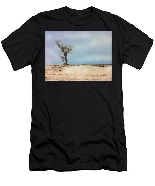 Men's T-Shirt (Athletic Fit) featuring the digital art Lonely Sentinel  by Shelli Fitzpatrick