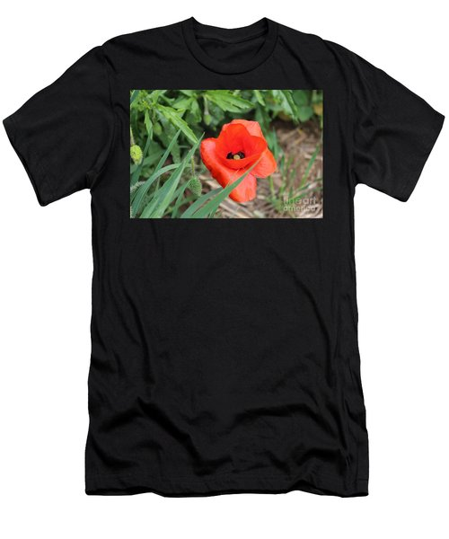Lonesome Poppy Men's T-Shirt (Athletic Fit)