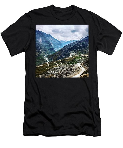 Long And Winding Roads Men's T-Shirt (Athletic Fit)