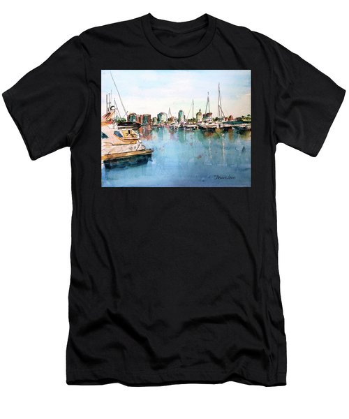 Long Beach Coastal View Men's T-Shirt (Athletic Fit)