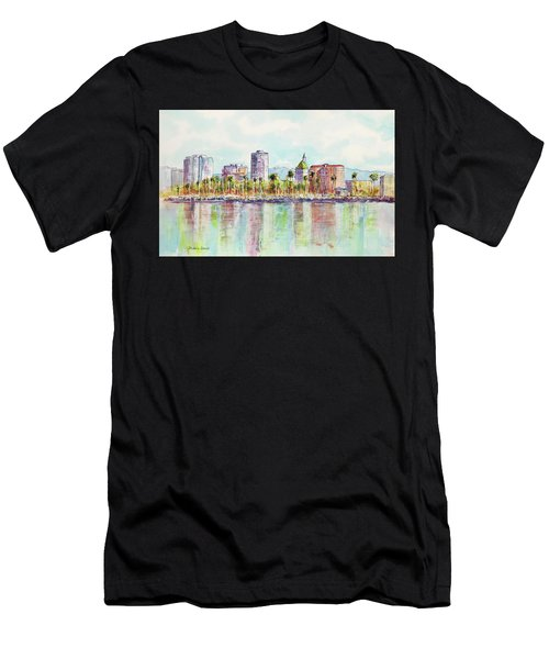 Long Beach Coastline Reflections Men's T-Shirt (Athletic Fit)