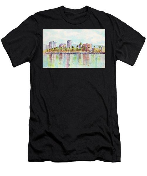 Long Beach Coastline Reflections Men's T-Shirt (Athletic Fit)