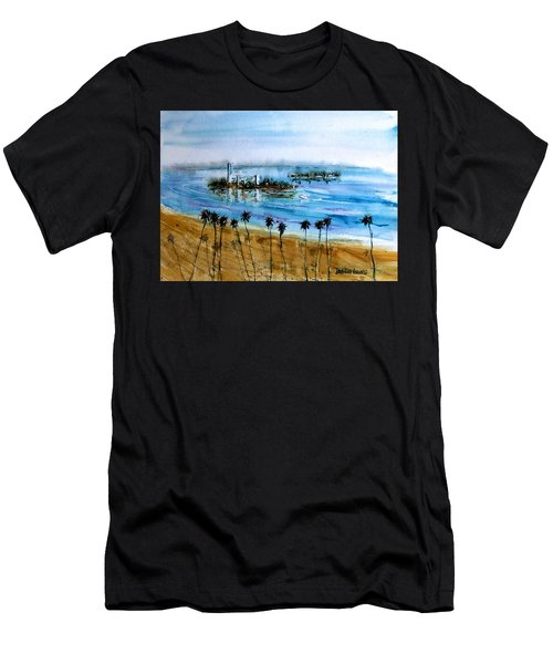 Long Beach Oil Islands Before Sunset Men's T-Shirt (Athletic Fit)