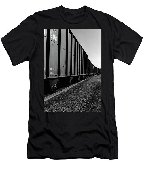 Men's T-Shirt (Slim Fit) featuring the photograph Long Black Train by Tara Lynn