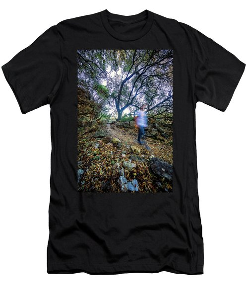 Long Exposure Peddernales Falls State Park Hike Men's T-Shirt (Athletic Fit)