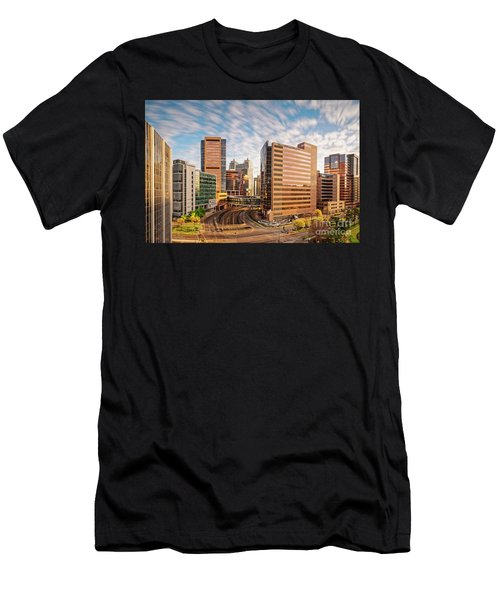 Long Exposure View Of The Texas Medical Center Houston Harris County - Southeast Texas Men's T-Shirt (Athletic Fit)