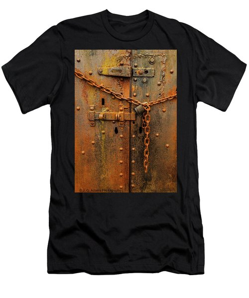 Long Locked Iron Door Men's T-Shirt (Athletic Fit)