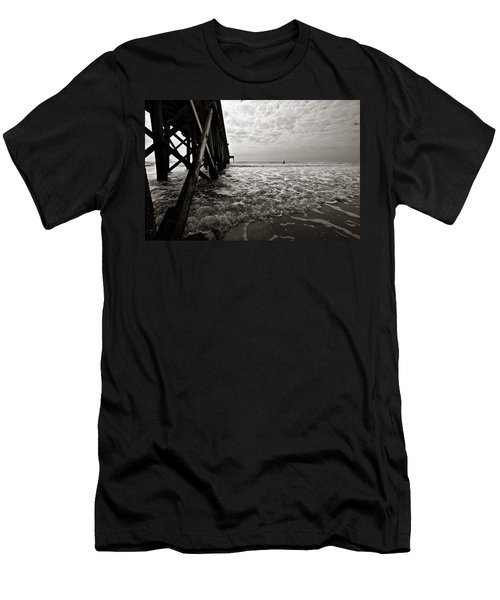 Men's T-Shirt (Athletic Fit) featuring the photograph Long To Surf by David Sutton