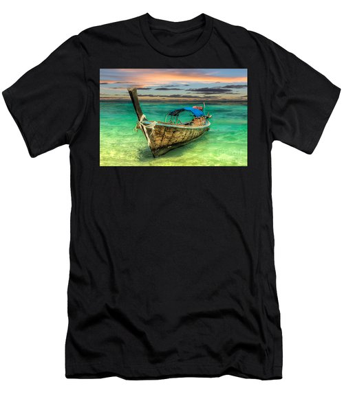 Longboat Sunset Men's T-Shirt (Athletic Fit)