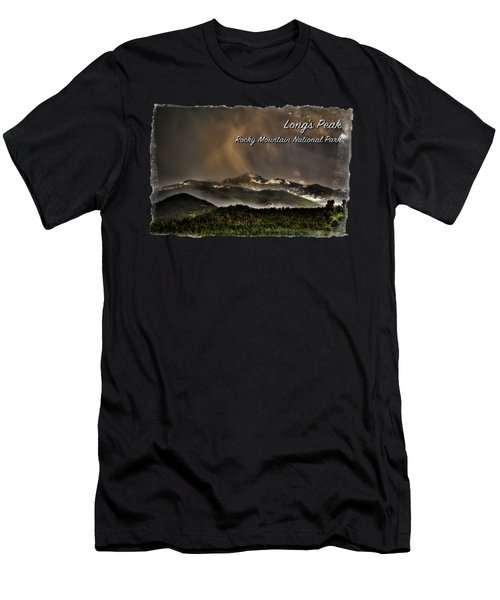 Long's Peak In Haze Men's T-Shirt (Athletic Fit)