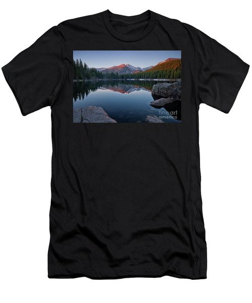 Longs Peak Reflection On Bear Lake Men's T-Shirt (Athletic Fit)