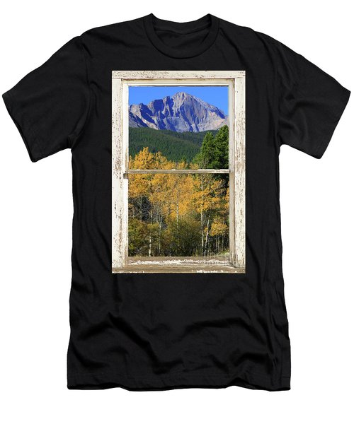 Longs Peak Window View Men's T-Shirt (Athletic Fit)