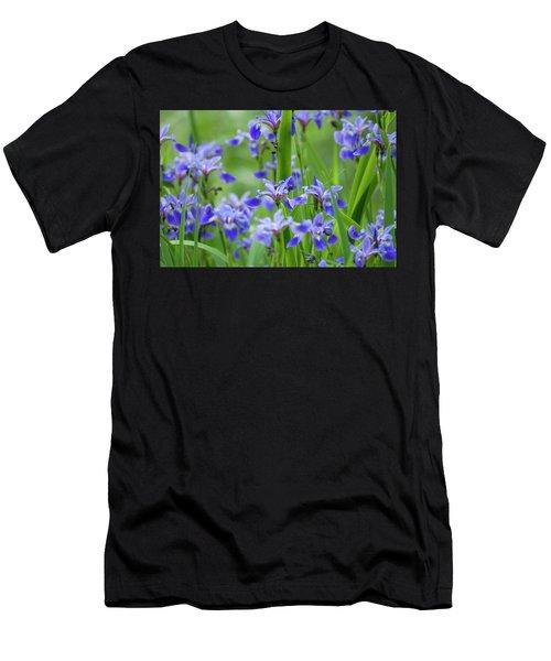 Longwood Garden Flowers Up Close Men's T-Shirt (Athletic Fit)