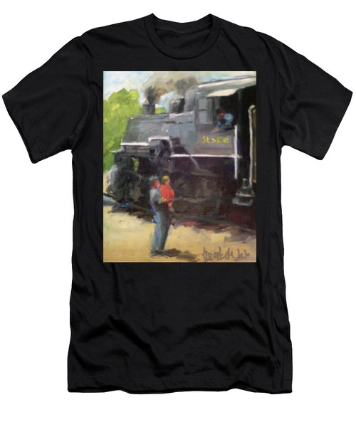 Look At The Train Men's T-Shirt (Athletic Fit)