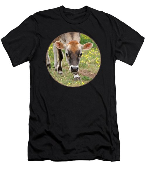 Look Into My Eyes - Jersey Cow - Square Men's T-Shirt (Athletic Fit)