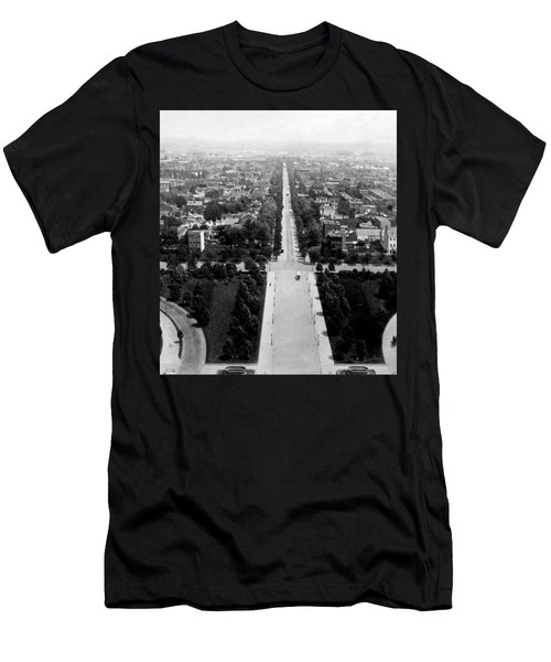 Looking Down East Capitol Street From The Dome Of Capitol Building - Washington Dc - C 1890 Men's T-Shirt (Athletic Fit)