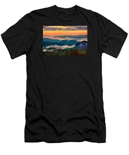 Looking Glass In The Blue Ridge At Sunrise Men's T-Shirt (Athletic Fit)